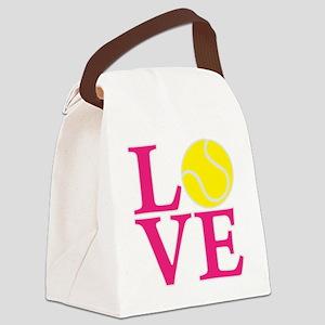 melon2, Tennis LOVE Canvas Lunch Bag