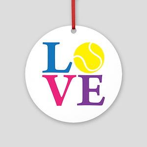 multi2, Tennis LOVE Round Ornament