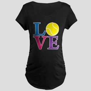 multi2, Tennis LOVE Maternity Dark T-Shirt