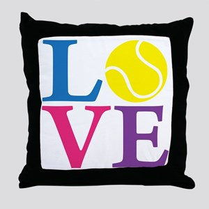 multi2, Tennis LOVE Throw Pillow