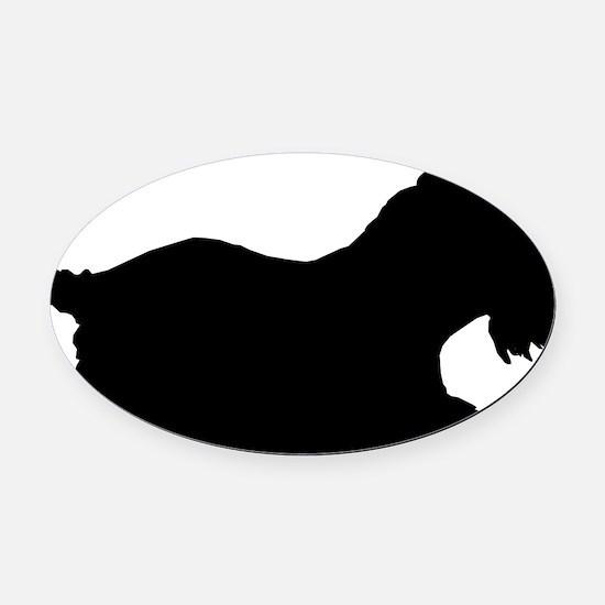 Schnauzer Oval Car Magnet