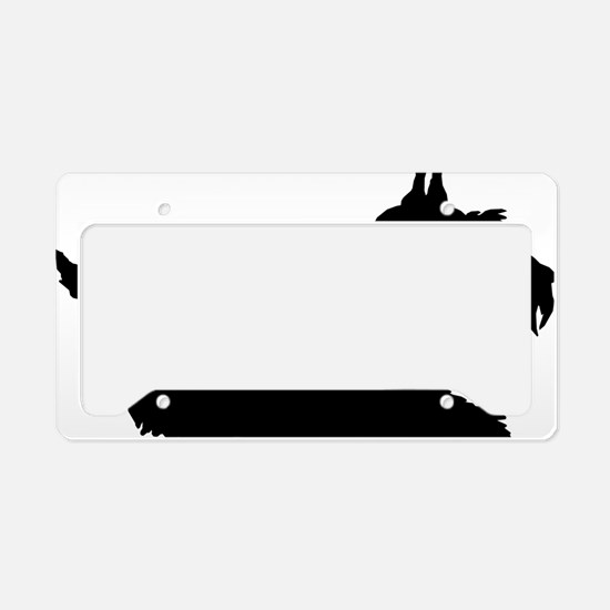 Schnauzer License Plate Holder