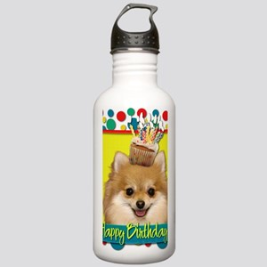 BirthdayCupcakePomeran Stainless Water Bottle 1.0L