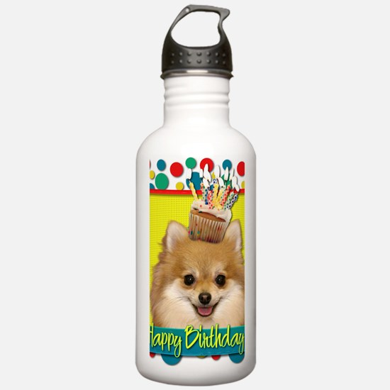 BirthdayCupcakePomeran Water Bottle