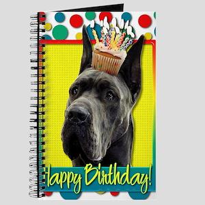 BirthdayCupcakeGreatDaneGrey Journal