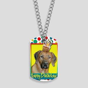 BirthdayCupcakeRhodesianRidgeback Dog Tags
