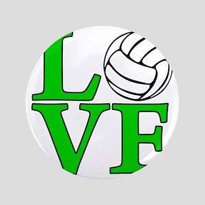 "green, Volleyball LOVE 3.5"" Button"