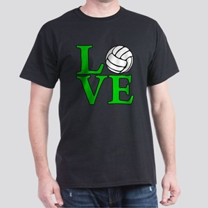 green, Volleyball LOVE Dark T-Shirt