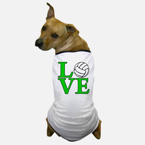 green, Volleyball LOVE Dog T-Shirt