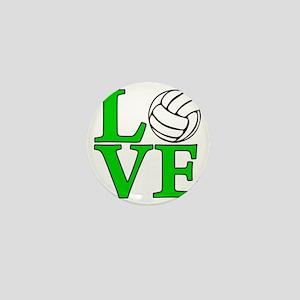 green, Volleyball LOVE Mini Button