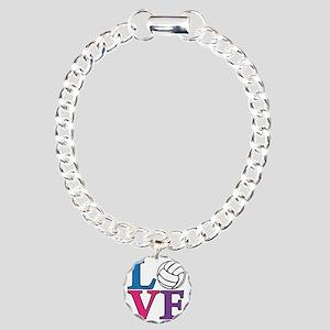 multi, Volleyball LOVE Charm Bracelet, One Charm