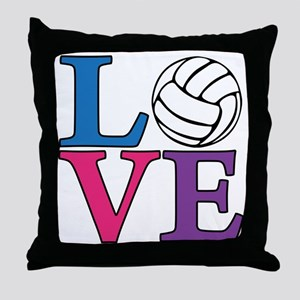 multi, Volleyball LOVE Throw Pillow