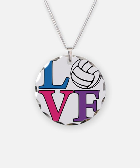 multi, Volleyball LOVE Necklace