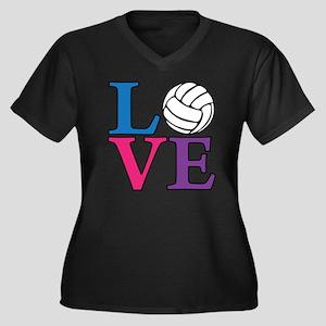 multi, Volle Women's Plus Size Dark V-Neck T-Shirt