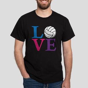 multi, Volleyball LOVE Dark T-Shirt