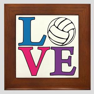 multi, Volleyball LOVE Framed Tile
