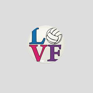 multi, Volleyball LOVE Mini Button