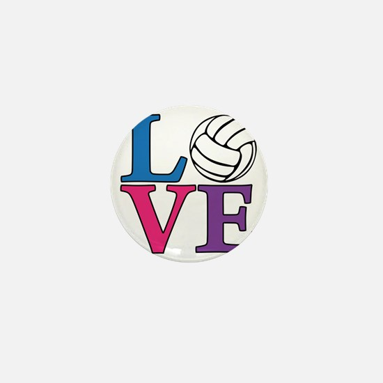 multi, Volleyball LOVE Mini Button
