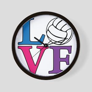 multi, Volleyball LOVE Wall Clock