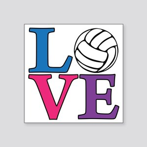 "multi, Volleyball LOVE Square Sticker 3"" x 3"""
