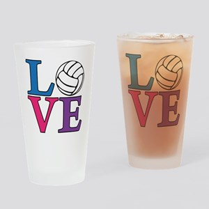 multi, Volleyball LOVE Drinking Glass