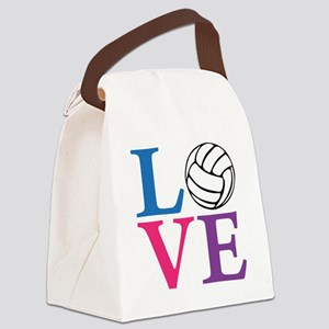 multi2, Volleyball LOVE Canvas Lunch Bag