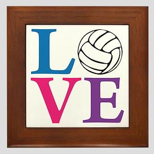 multi2, Volleyball LOVE Framed Tile