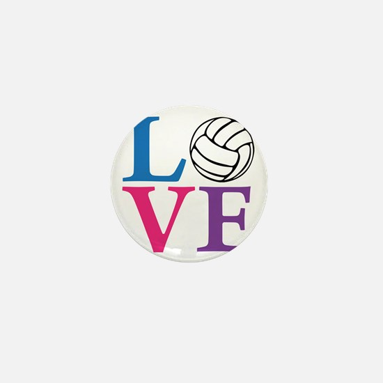 multi2, Volleyball LOVE Mini Button