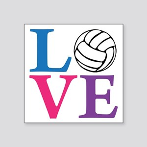 "multi2, Volleyball LOVE Square Sticker 3"" x 3"""