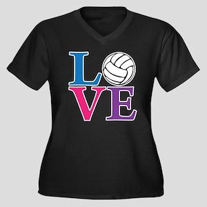 multi2, Voll Women's Plus Size Dark V-Neck T-Shirt
