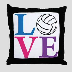 multi2, Volleyball LOVE Throw Pillow
