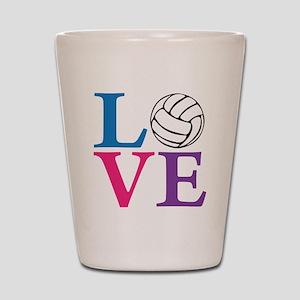 multi2, Volleyball LOVE Shot Glass