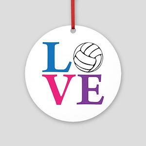 multi2, Volleyball LOVE Round Ornament