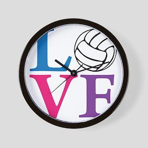 multi2, Volleyball LOVE Wall Clock
