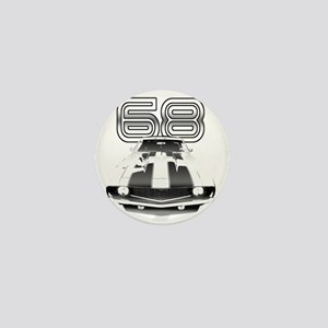 Camaro Black 1968 Mini Button