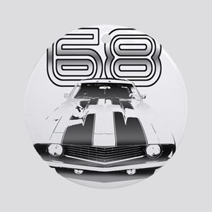 Camaro Black 1968 Round Ornament