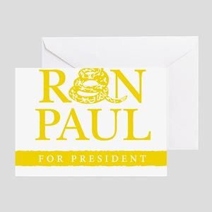 Ron_Paul_Gadsden-gold Greeting Card