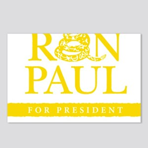 Ron_Paul_Gadsden-gold Postcards (Package of 8)