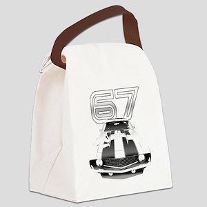 Camaro Black 1967 Canvas Lunch Bag