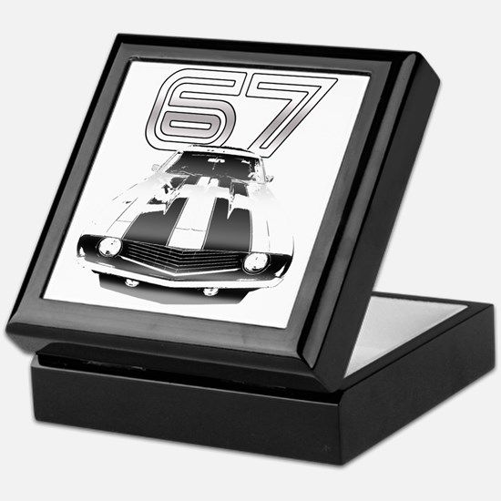Camaro Black 1967 Keepsake Box