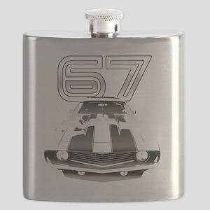 Camaro Black 1967 Flask