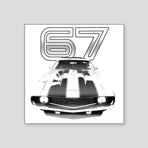 "Camaro Black 1967 Square Sticker 3"" x 3"""