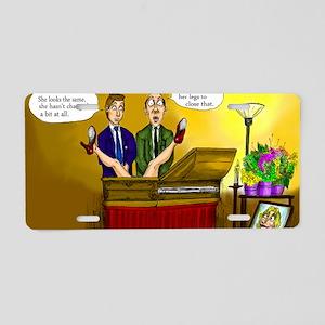 Funeral Aluminum License Plate