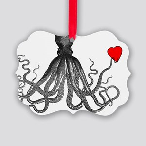 octopuswithheart Picture Ornament