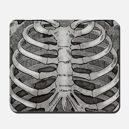 ribcage-grey_18x18vr Mousepad