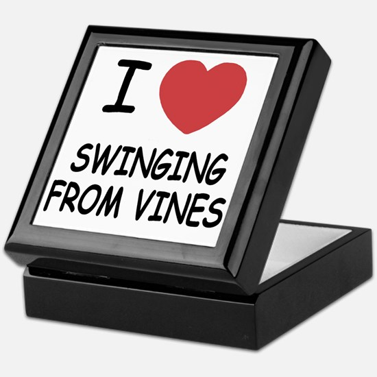 SWINGING_FROM_VINES Keepsake Box