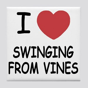 SWINGING_FROM_VINES Tile Coaster