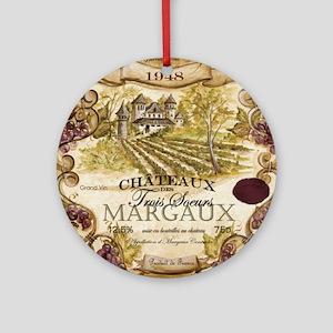 Wine Best Seller Round Ornament