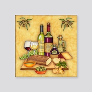 "Wine Best Seller Square Sticker 3"" x 3"""