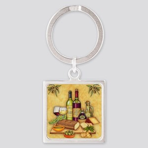 Wine Best Seller Square Keychain